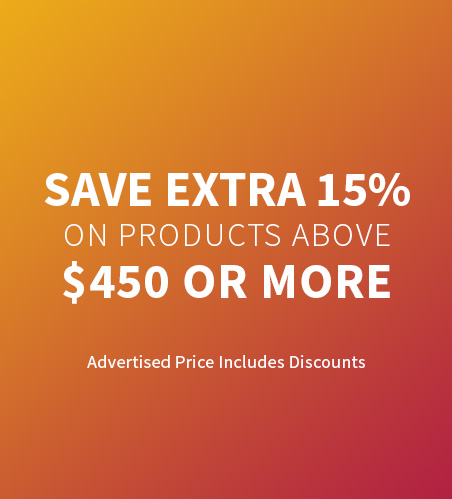 Save EXTRA 15% when you spend $450 or more